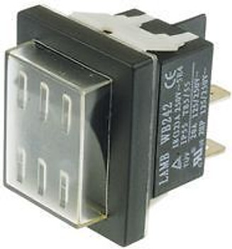 E-Switch Wb242D1121-Acc-Kf05 Switch, Rocker, Dpst, 20A, 250Vac, Bl...