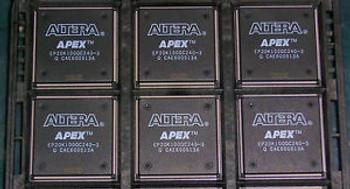 1 tray of 24 new ICs, ALTERA APEX EP20K100QC240-3 FPGAs --  APEX-20K Series