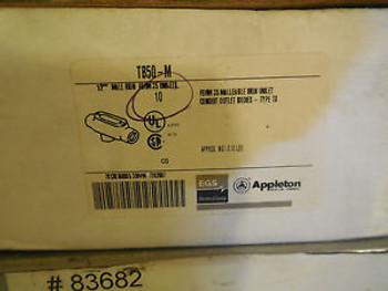 10 NEW APPLETON  TB50-M MALL IRON UNILET TB50M
