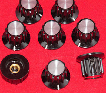 100 PCS - NEW MATCHED INSTRUMENT KNOBS - 1/4 SHAFT FIT - ALLEN SET SCREW