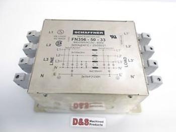 SCHAFFNER FN 356-50-24 3-Phase Neutral Line Filter 440//250VAC 3x50A 50-60Hz
