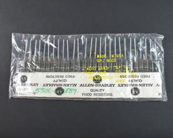 (25) Allen-Bradley Carbon Comp Fixed Resistors RC42GF101J 100 Ohms 2 Watt 5% Tol