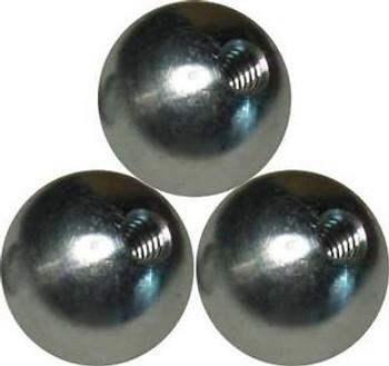 100 1/2 dia.  threaded 10-24 aluminum balls  knobs