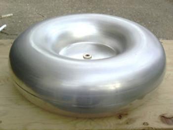 4 x 13 Toroid  for Tesla Coil Spun Aluminum Topload