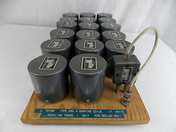 SET OF BOONTON INDUCTORS  W/ COUPLING TRANSFORMER  TYPE 564-A