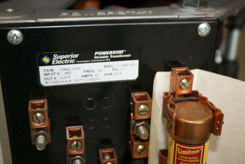 Superior Powerstat Variable Transformer Type 1296D-1079 480V 32A Slo-Syn powered