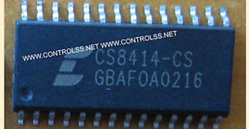 10pcs CS8414-CS ( CS8414CS)  CS8414-CS - 96 KHZ DIGITAL AUDIO RECEIVER  IC