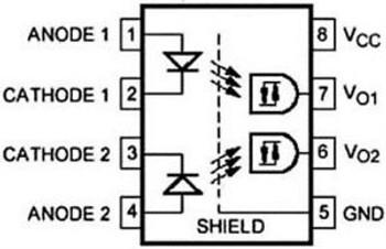 06B4418 Avago Technologies 5962-8876901Pa Optocoupler, Logic Gate