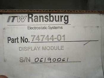 (O4-2) 1 NEW ITW RANSBURG 74744-01 DISPLAY MODULE