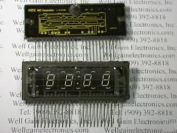 1415xNEC FIP4C9B 4 DIGIT CLOCK FLUORESCENT DISPLAY