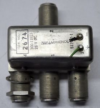 Amphenol 300-11923 28VCD RF 3-way Coaxial RELAY Switch Ham Radio