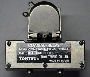 Tohtsu CZX-3500N DC - 6 GHz, 12 VdC RF Microwave Relay Switch Ham Radio