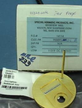Gold Au plated 3 bulkhead assembly 12 pins 1tube 1hole