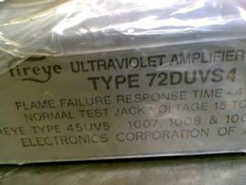 Fireye 72DUVS4 Ultraviolet Amplifier Board Series D FACTORY SEALED
