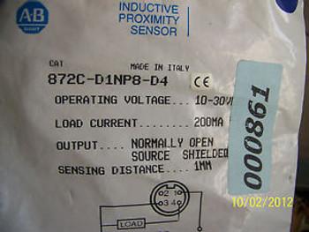 ALLEN BRADLEY INDUCTIVE PROX SENSOR   PN: 872c-d1np8-d4