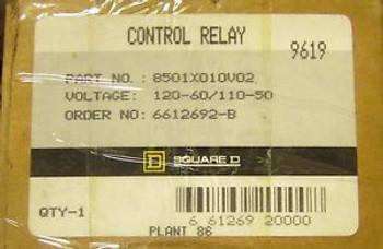 SQUARE D Control Relay 110//120V 8501X010V02
