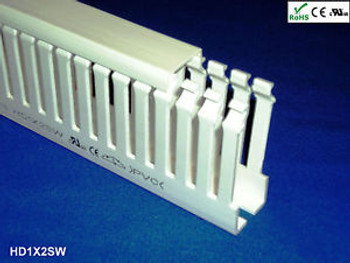(9) Sets of 1x2x2m White High Density Wiring Ducts and Covers-UL/CE Listed