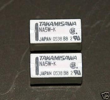 50pcs ORIGINAL NA5W-K TAKAMISAWA Relay DPDT 2C 5VDC Coil JAPAN