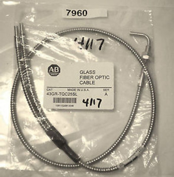 (7960) Allen Bradley Glass Fiber Optic Cable 43GR-TQC25SL