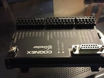 COGNEX CHECKER IO BOX CKR-200-IOBOX-002 CKR200IOBOX002 USED