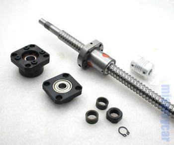 1 anti backlash ballscrew 1605-800mm-C7+ FK/FF12 end support + coupler CNC