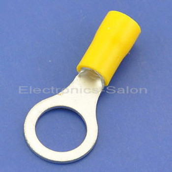 500x Crimp Wire Connector, 12~10AWG, 3/8, 48AMP, Yellow Ring Terminal, RV5.5-10