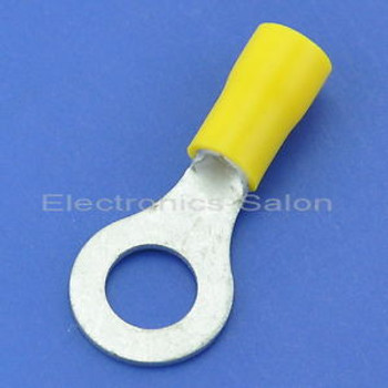 500x Crimp Wire Connector, 12~10AWG, 5/16, 48AMP, Yellow Ring Terminal, RV5.5-8