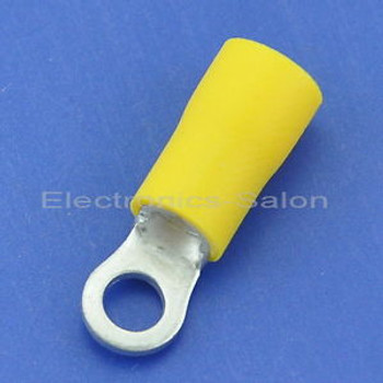 1000x Crimp Wire Connector, 12~10AWG, #6, 48AMP, Yellow Ring Terminal, RV5.5-3.5