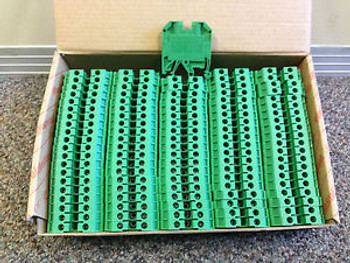Box of 100 Terminal Blocks: Weidmuller SAK 4/EN Green