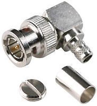 AMPHENOL CONNEX 112596 RF/COAXIAL, BNC PLUG, R/A, 50 OHM, CRIMP (50 pieces)