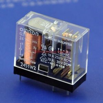 50x OMRON 10 Amp SPDT Power Relay, G2R-1, 24VDC.