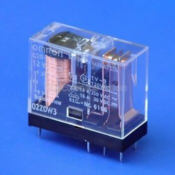 50x OMRON 16 Amp SPDT Power Relay, G2R-1-E 12VDC.