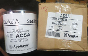 (5) New cans of KWIKO A SEALING CEMENT #AC5A 5LB. CAN