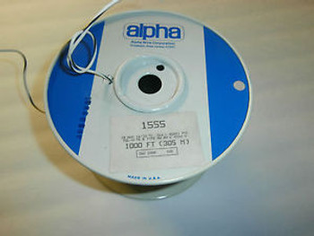 1000 Feet Alpha 1555 Hook Up Wire 18 AWG 1000 Volt,NOS