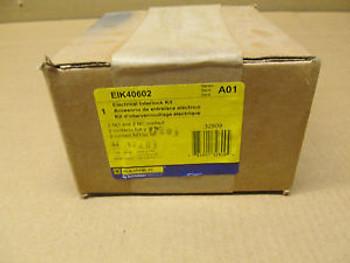 1 NIB SQUARE D EIK-4060-2 EIK40602 ELECTRICAL INTERLOCK 2 N.O. 2 N.C.