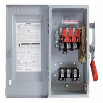 Siemens VBII  Heavy Duty Safety Switch 600V 3P 100A HF363J NEMA 12 Enclosre