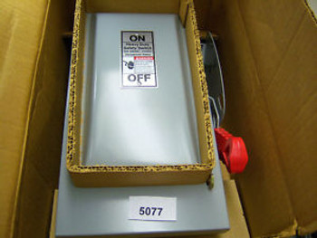 (5077) Siemens Disconnect Switch HF361 30 Amp 6060 VAC 3Pole