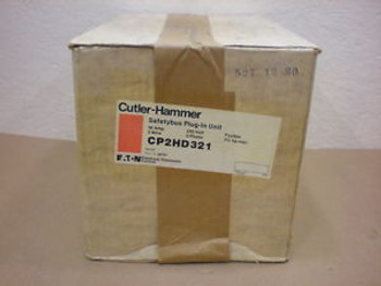 1 NIB CUTLER HAMMER CP2HD321 30 AMP 240 VOLTS 3 WIRE SAFETY BUS PLUG