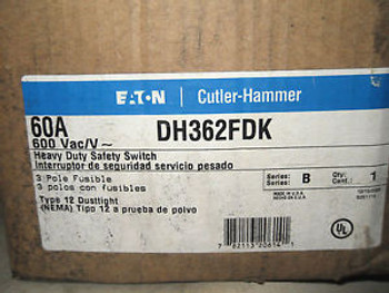 (X5-18) 1 NIB CUTLER HAMMER DH362FDK HEAVY DUTY SAFETY SWITCH 60A