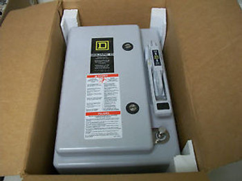 SQUARE D HU361DF 30A 600V 3P non-fusible disconnect switch 4X New in box