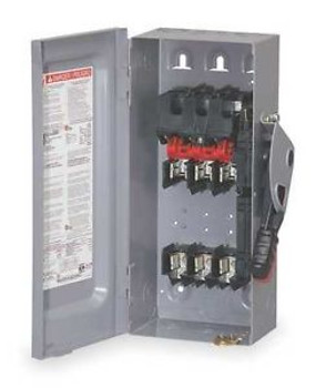 SQUARE D H321A Safety Switch,Fusible,30A,240VAC,1or3 PH G6867813