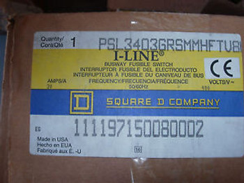 SQUARE D 30 AMP  480 VOLT NEW SPECIAL MOUNTED BUS PLUG  VERTICAL ONLY