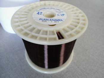 Awg 42 Plain Enamel Copper Magnet Wire / Weight 5.45