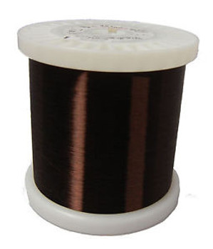 42 Awg Gauge Plain Enamel Copper Magnet Wire 5.55 Lbs 0.0027 105C Brown Mw-1-C