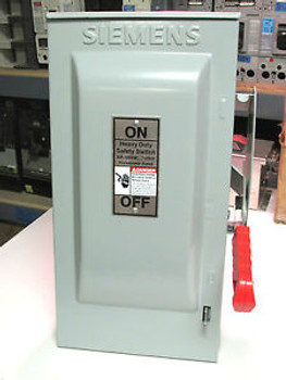 NIB.. Siemens Heavy Duty Safety Switch 30A, 600V NEMA 3R  Cat# HF361R .. VR-07