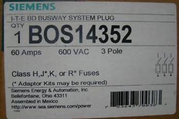 Siemens / ITE BOS14352 Busway Plug