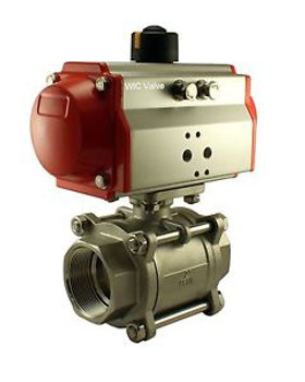 2 Inch Pneumatic Double Acting Air Return Air Actuated Stainless Ball Valve