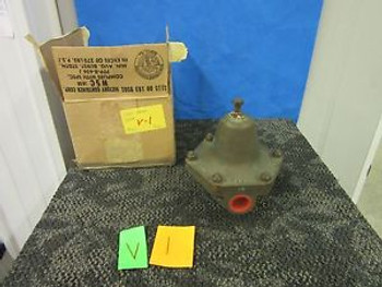 CASH VALVE BRONZE 150 PSI REGULATOR FLOW LIQUID NITROGEN 1/2 NPT C-5 MILITARY