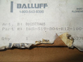 (Q9-3)  1 NEW BALLUFF BNS-519-D04-R12-100-10-FD SWITCH