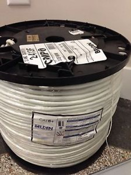Belden / CMP - 2413F 009100 Cat 6+ White Shielded 23 AWG 1000ft spool Blow Out